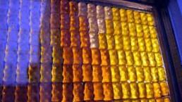 Gummibärchen im Licht
