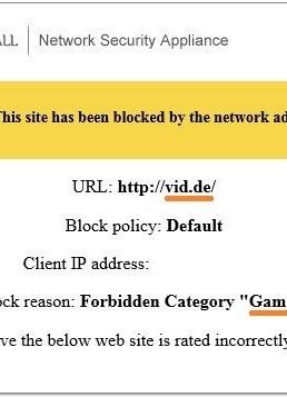 Fehlermeldung Firewall