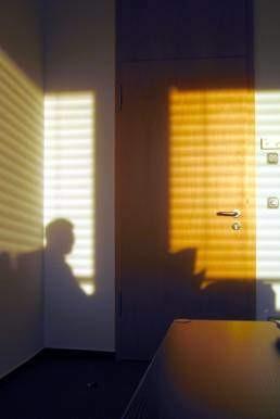 Schattenriss aus einem Büro