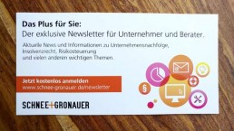 Postkarte Newsletter