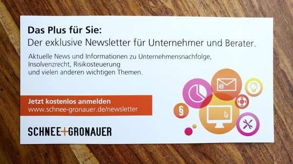 Postkarte Newsletter